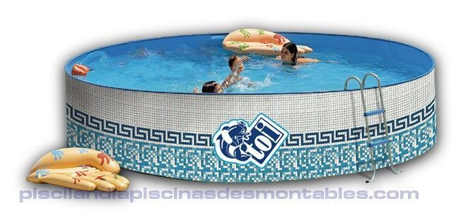 Piscina desmontable redonda de acero modelo mosaico for Piscinas intex baratas