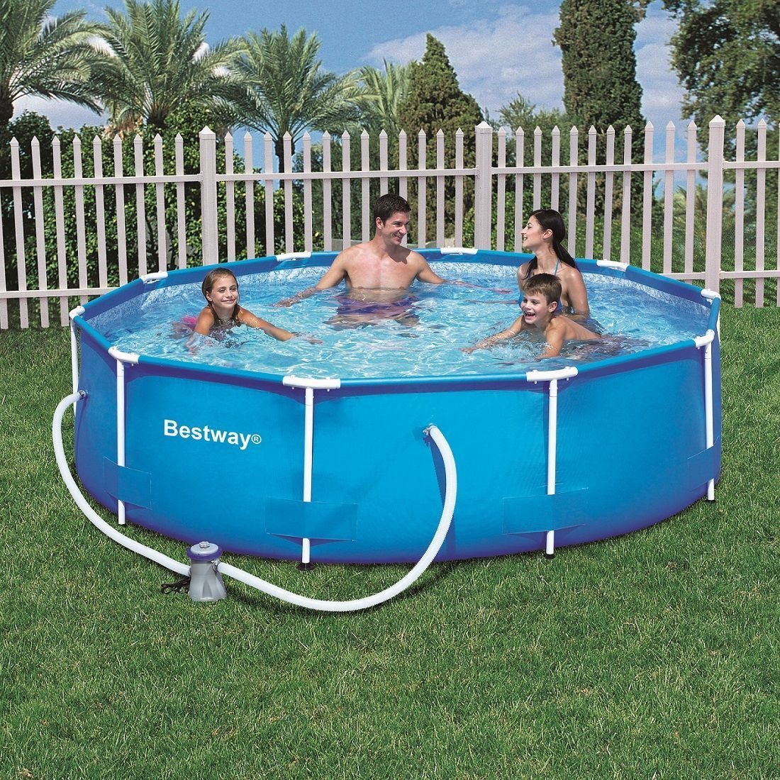 Piscinas tubulares bestway for Piscina pequena desmontable con depuradora
